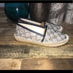 ffd3ac82dce Gucci Shoes - Preowned Gucci GG Supreme Bees Espadrilles